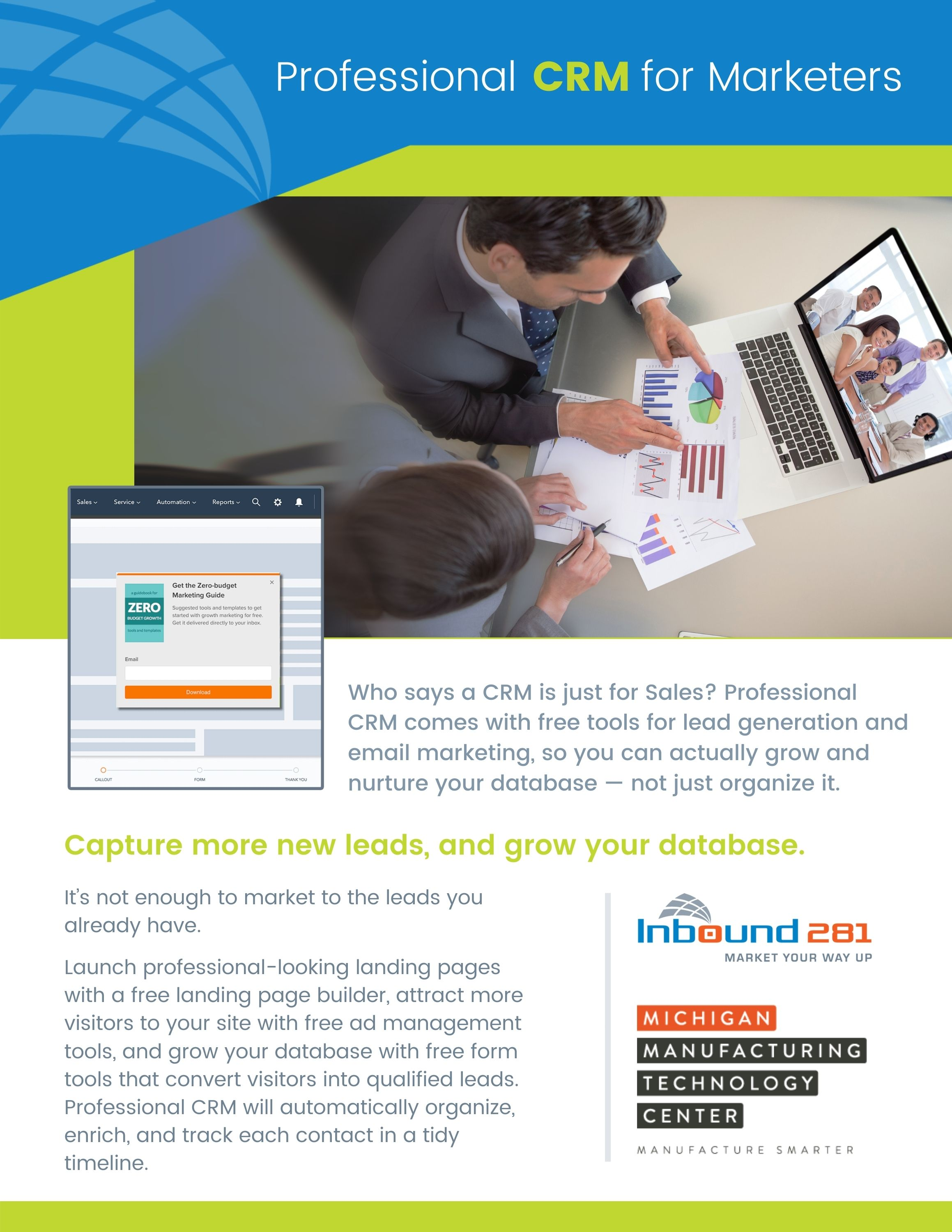 Professional CRM for Marketers